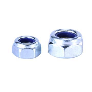 DIN985尼龙锁紧螺母4级,M30-3.5,蓝白锌,10个/包