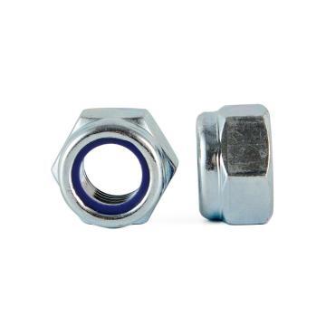 DIN985尼龙锁紧螺母,M12-1.75,碳钢8级,蓝白锌,200个/包