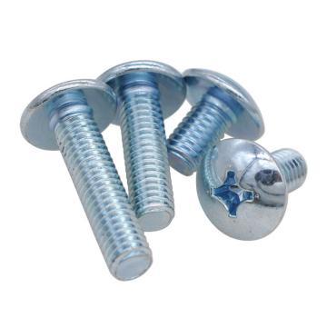JISB1111十字槽大扁头机螺钉,M6-1.0X50,蓝白锌,200个/包
