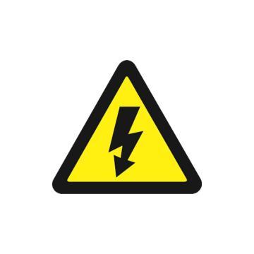 安赛瑞 GB安全警示标签-当心触电,边长50mm,32611,10片/包