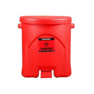 西斯貝爾SYSBEL 生化垃圾桶,紅色,6G/22.6L,內部尺寸290×350mm,WA8109200