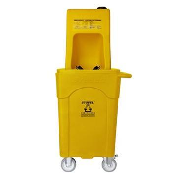 SYSBEL/西斯贝尔 便携式洗眼器B型(塑料推车版),8G/30L,WG6000BD