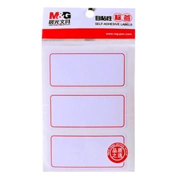 晨光 M&G 自粘性标签,YT-03 3枚X10 73*34mm (红) 10张/包 单位:包
