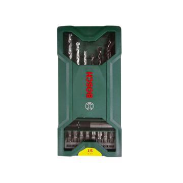 博世混合套装,15支Mini钻头+批头套装,2607019579