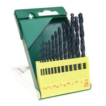 博世麻花钻头套装,HSSR麻花钻头13支 1.5-6.5mm,2607019441