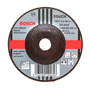 博世Bosch 不锈钢打磨片,180*6*22.23mm 砂轮角磨片,德国产,2608600540