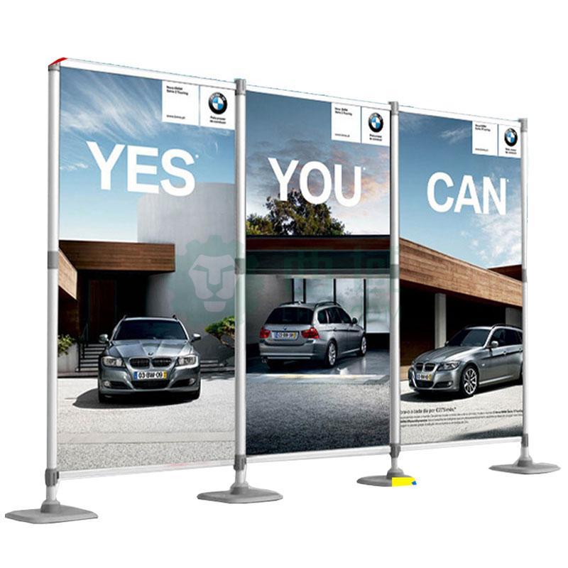 铝合金快展示架展板架子,快展展架展会广告屏风2.2米立柱1根 注水底座