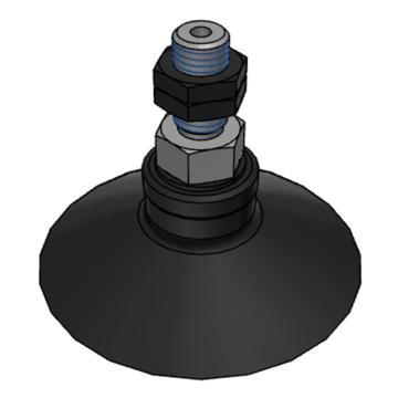 SMC 真空吸盘,带肋平型,NBR,纵向真空引出型,不带缓冲,ZPT50CN-A8