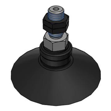 SMC 真空吸盤,帶肋平型,NBR,縱向真空引出型,不帶緩沖,ZPT50CN-A8