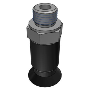 SMC 真空吸盤,平型,硅橡膠,縱向真空引出型,不帶緩沖,ZPT08US-A5