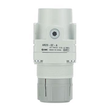 "SMC 减压阀,接管G1/4"",设定压力0.5-7Mpa,AR25-F02-A"