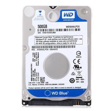 西部数据 蓝盘, 500G 5400转16M SATA6Gb/s 笔记本硬盘 白色 WD5000LPCX