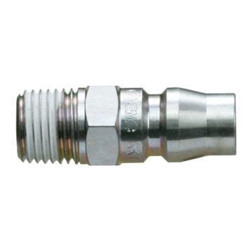 SMC 对接式外牙快插插头,带单向阀,KK130P-02MS
