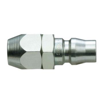 SMC 对接式带螺母快插插头,带单向阀,KK130P-80N