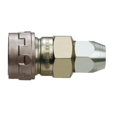 SMC 对接式带螺母快插插座,带单向阀,KK130S-80N