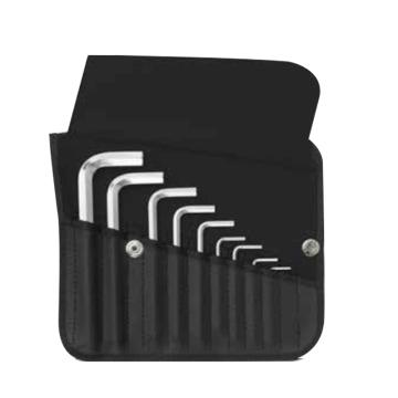 PB SWISS TOOLS L型平头内六角扳手套装,9件套,PB 210.K,艾伦扳手 7字形扳手 内六角扳手套装