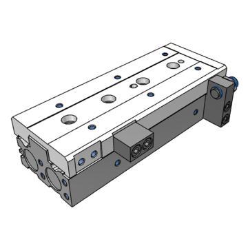 SMC 滑台气缸,前端调程,MXS20-20AS