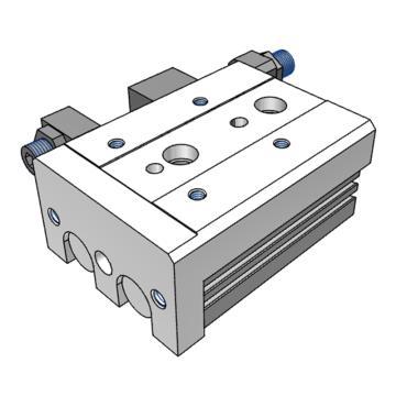 SMC 滑台气缸,两端调程,MXS16-20A