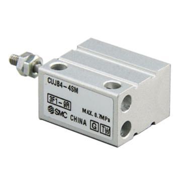 SMC 小型自由安装型气缸,单作用弹簧压回,杆端外螺纹,CUJB6-4SM