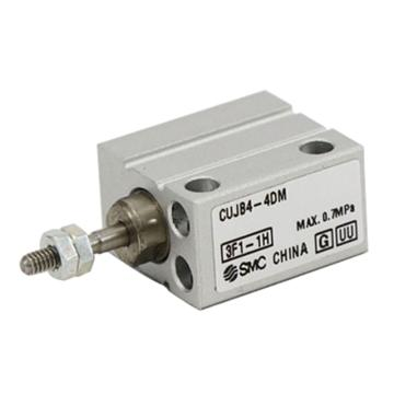 SMC 小型自由安裝型氣缸,雙作用,桿端外螺紋,CUJB10-6DM