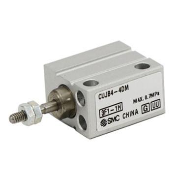 SMC 小型自由安装型气缸,双作用,杆端外螺纹,CUJB4-10DM