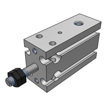 SMC 自由安装型气缸,单作用弹簧压回型,CDU10-5S