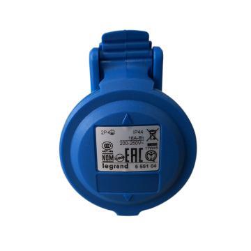 罗格朗 移动插座,IP44 230V 16A 2P+E,555104