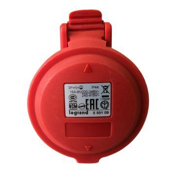 罗格朗 移动插座,IP44 380V 16A 3P+N+E,555109