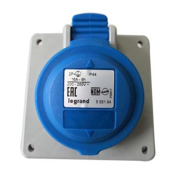 罗格朗Legrand 暗装插座,IP44 230V 16A 2P+E,555184