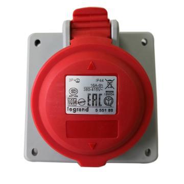 罗格朗Legrand 暗装插座,IP44 380V 16A 3P+E,555188