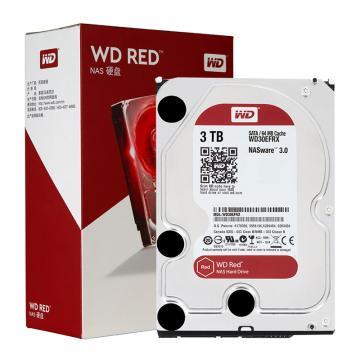 西部數據(WD)紅盤, 3TB SATA6Gb/s 64M 網絡儲存(NAS)硬盤(WD30EFRX)