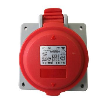 罗格朗 暗装插座,IP44 380V 16A 3P+N+E,555189