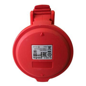 罗格朗Legrand 移动插座,IP44 380V 32A 3P+N+E,555219