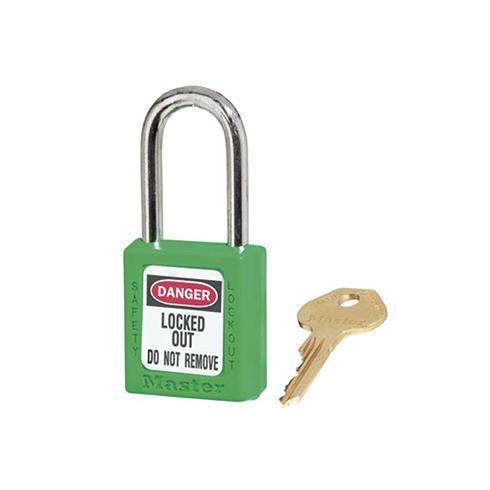 玛斯特锁MasterLock 6mm锁钩,锁钩净高38mm,44mm高,绿色XENOY工程塑料安全锁,410MCNGRN