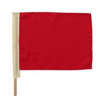 铁路信号旗,红 带杆