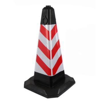 橡胶方锥,红白,加厚集中,高700mm,底座400×400mm