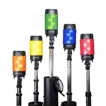 FoxFury Nomad 360 便携式移动照明LED灯 200-900 含配件:3M黄色反光安全条、肩带、AC/DC电源适配器、AC电源线、12VDC车载点烟头