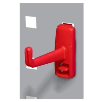 天钢 方孔挂板塑胶挂钩,W17XD75XH52mmKP-6102,10个装