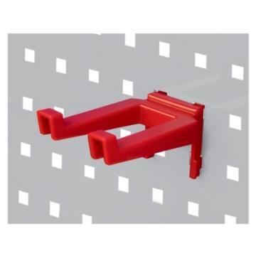 天钢 方孔挂板塑胶挂钩 ,W65XD105XH63mm 双钩宽度34mm KP-6208,10个装