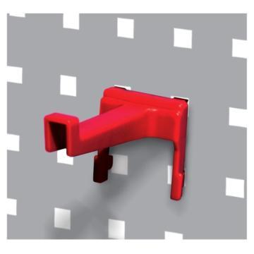 天钢 方孔挂板塑胶挂钩 ,W54XD105XH63mm KP-6308,10个装