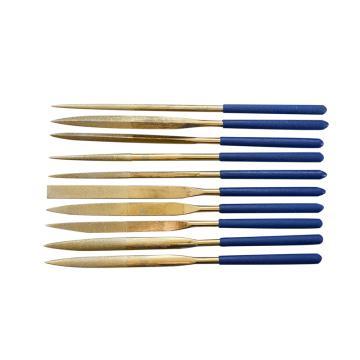 长城精工 镀钛金刚石什锦锉锉刀金刚石锉刀,5*180mm,10件套,413938