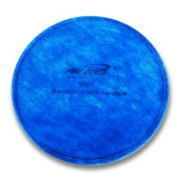 南核 滤棉,8001,KN100 蓝色滤棉防有机异味非油性颗粒物适用于8009