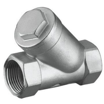 远大阀门/YUANDA VALVE 不锈钢304Y型丝扣过滤器 GL11W-16P,DN40(80目)