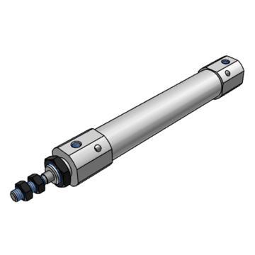 SMC 气缸,单杆双作用,气缓冲,钢带安装,CDJ2B16-175AZ-B