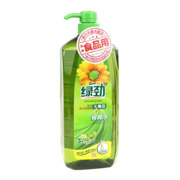 妈妈壹选 新一代餐具净,天然柠檬草 1.28kg 绿劲 单位:瓶