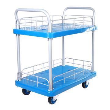 连和 微静轮二层带护栏手推车,双扶手 910X600mm 300kg,PLA300W-T2-HL2-D(LH300P-T2-HL2-D )