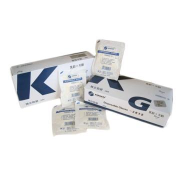 无粉乳胶手套,独立包装,灭菌,中号,30副/盒,20盒/箱,科进,Kirgen,KG3220