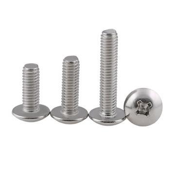 法思特 ANSIB18.6.3T十字大扁頭機螺釘,1/4-20*1/2,不銹鋼304,洗白,500個/盒
