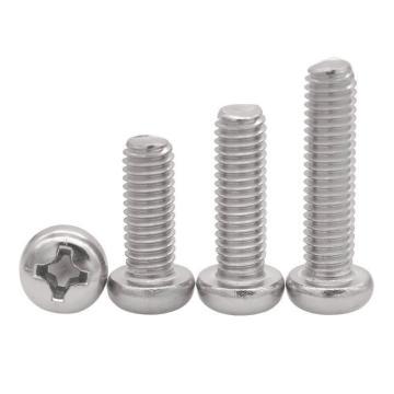 法思特 GB823十字小盘头机螺钉,M4-0.7X40,不锈钢304,洗白,500个/盒