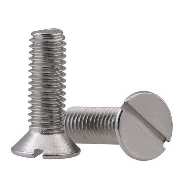 法思特 GB68一字沉頭機螺釘,M10-1.5X25,不銹鋼316,洗白,160個/盒